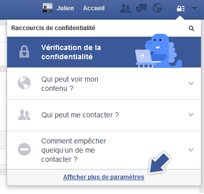 gérer ses options de confidentialité facebook